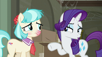 "Rarity ""as the sole sales associate"" S6E9"