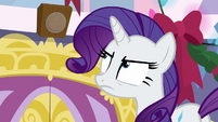 Rarity glaring at the P.A. system BGES3