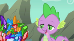 Spike mouth water gems S01E19