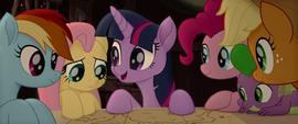 Twilight Sparkle explaining to her friends MLPTM