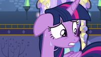 Twilight Sparkle sweating nervously S7E14