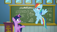 Twilight and Rainbow serving as instructors S6E24