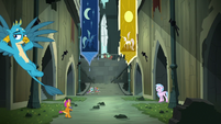 Young Six hang out in Castle of the Two Sisters S8E2
