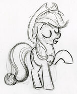 Applejack Telling Someone Sketch