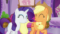 Applejack and Rarity happy S6E10