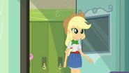 Applejack enters the classroom EG