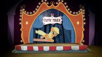 Cardboard cutout of cutie-marked Applejack BFHHS4