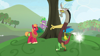 Discord snapping his fingers S9E23