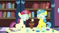 Filly Moon Dancer and Lemon Hearts grow a flower S7E1