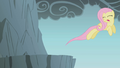 Fluttershy jumping over gap with eyes closed S1E7.png