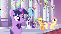 Fluttershy unwanting to miss train S4E01