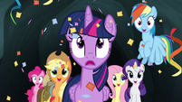Mane 6 showered with confetti S4E22