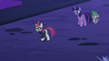 Moon Dancer walking away from Twilight and Spike S5E12.png