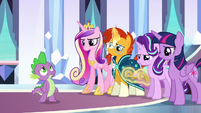 Ponies' expressions soften as Spike sings S6E16