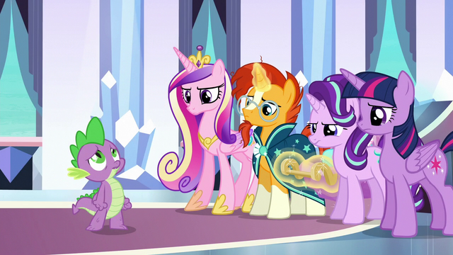 File:Ponies' expressions soften as Spike sings S6E16.png