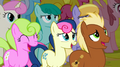 Ponies intimidated by Iron Will S2E19.png