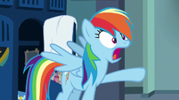 "Rainbow Dash angrily shouting ""yes!"" S7E7"