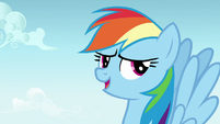 Rainbow Dash laughing nervously S7E14
