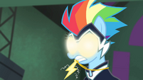 Rainbow Dash with glowing eyes S4E06