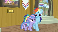 Rainbow chats up Quibble to Wind Sprint S9E6