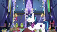 Shining Armor points out undecorated castle MLPBGE