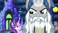 Star Swirl slams the book closed in anger S7E26
