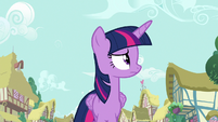 Twilight Sparkle looks around for Rarity S7E14