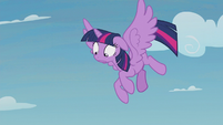 Twilight realizes Spike is still falling S5E25