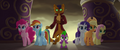 Capper and ponies surprised by Storm Guards MLPTM.png