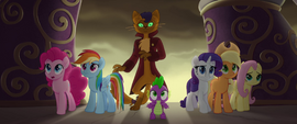 Capper and ponies surprised by Storm Guards MLPTM