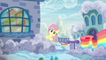 Fluttershy looks behind her parents' house S6E11.png