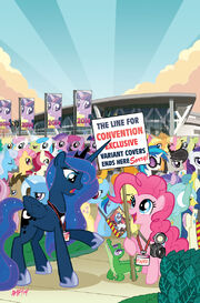 Friends Forever issue 7 cover RE BronyCon textless