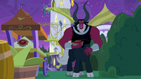 Lord Tirek stealing a pie S9E17