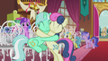 Lyra and Sweetie Drops hugging S5E9.png