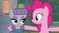 Maud Pie looking annoyed at Pinkie again S7E4