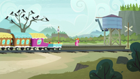 Pinkie Pie arrives at the Ghastly Gorge S7E4