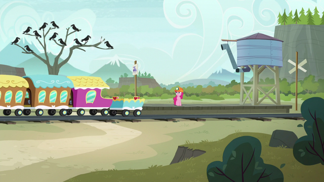File:Pinkie Pie arrives at the Ghastly Gorge S7E4.png