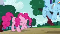 Pinkie Pie giggling at Dash's pranks S6E15