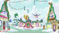 Ponyville Day Spa covered in snow MLPBGE