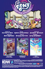 Ponyville Mysteries issue 3 credits page