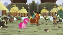 Prince Rutherford tells yaks to continue stomping S7E11