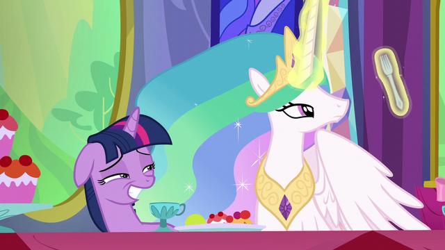 File:Princess Celestia examining her fork S6E6.png