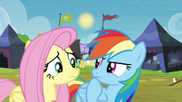 Rainbow Dash getting an idea S4E22