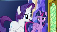 "Rarity ""hardly seems the factory type"" S9E14"