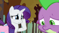 Rarity feeling sorry for Spike S8E11