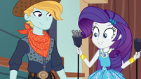 Rarity holding two ends of an electric plug EGROF