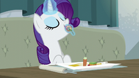 Rarity sampling the restaurant food S6E12