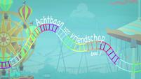 Rollercoaster of Friendship Title Card - Dutch