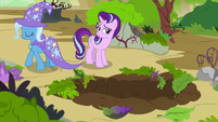 Starlight Glimmer amused by Trixie's aloofness S7E17