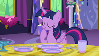 Twilight Sparkle giggling to herself S6E6